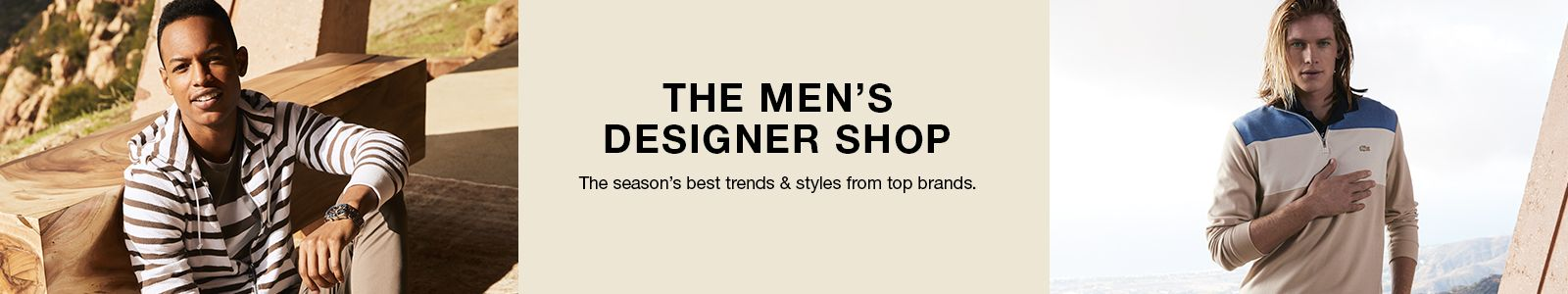 The Men's Designer Shop, The season's best trends and styles from top brands