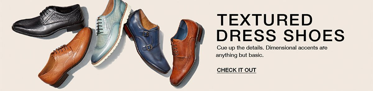 Textured Dress Shoes, Cue up the details, Dimensional accent are anything but basic, Check it Out