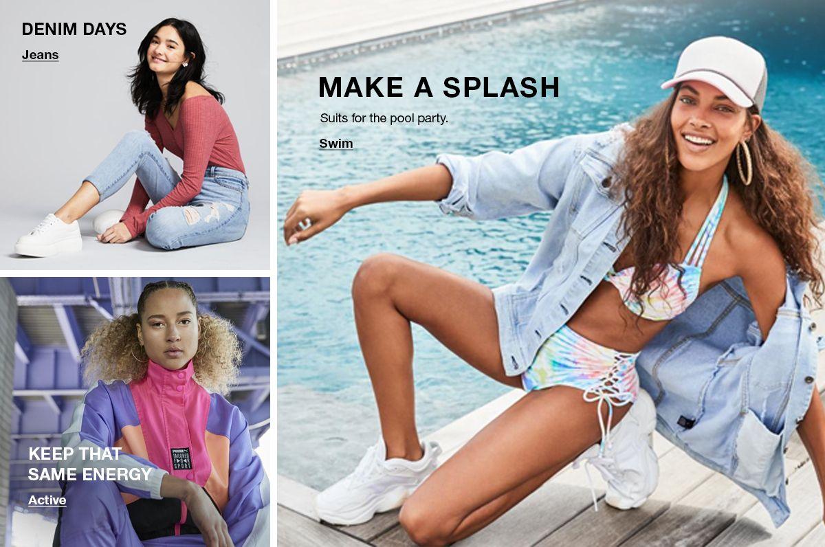 Denim Days, Jeans, Keep that Same Energy, Active, Make a Splash, Swim
