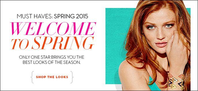 Must Haves: Spring 2015, Welcome to Spring, Only One Star Brings You the Best Looks of the Season, Shop The Looks