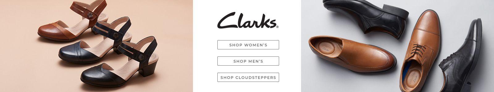 Clarks, Shop Women's, Shop Men's, Shop Cloudsteppers