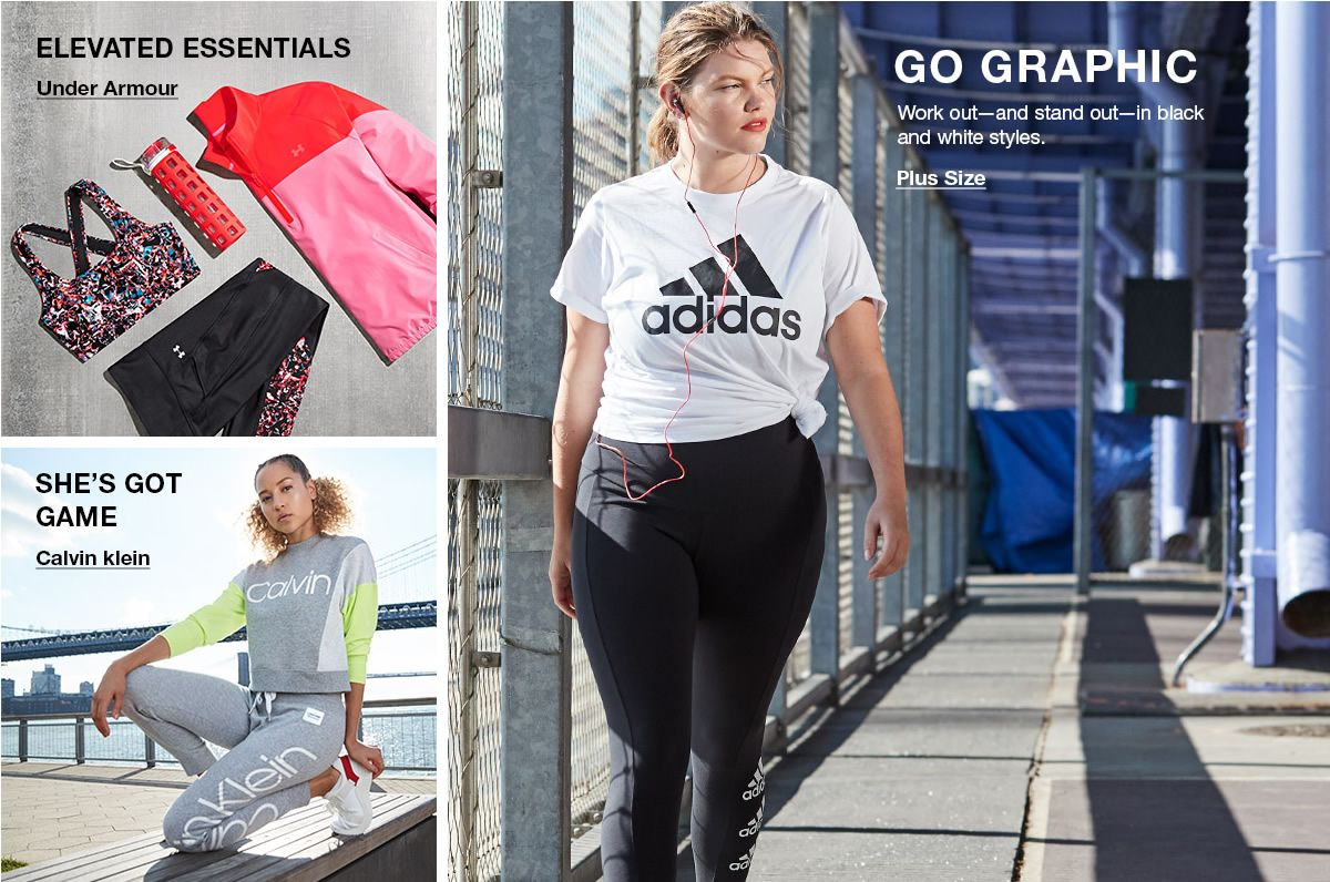 Elevated Essentials, Under Armour, She's Got Game, Calvin klein, Go Graphic, Plus Size