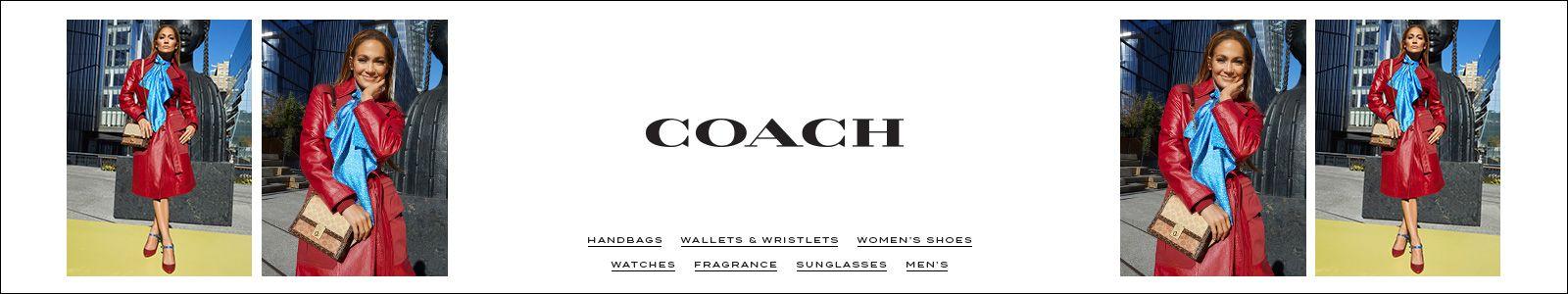 Coach, Handbags, Wallets and Wristlets, Women's Shoes, Watches, Fragrance, Sunglasses, Men's