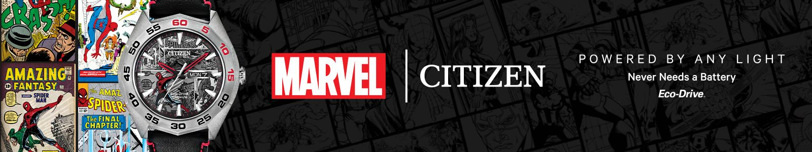 Marvel, Citizen, Powered by Any Light, Never Needs a Battery, Eco-Drive