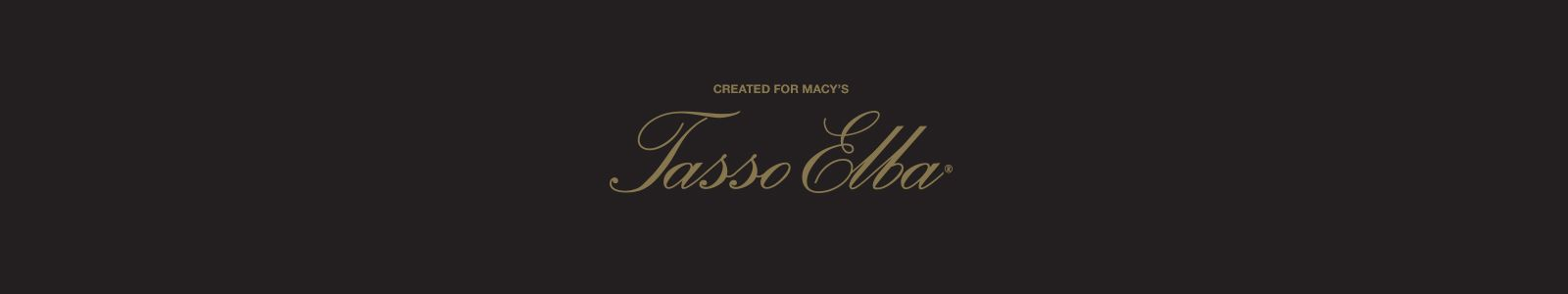 Created for Macy's, Tasso Elba
