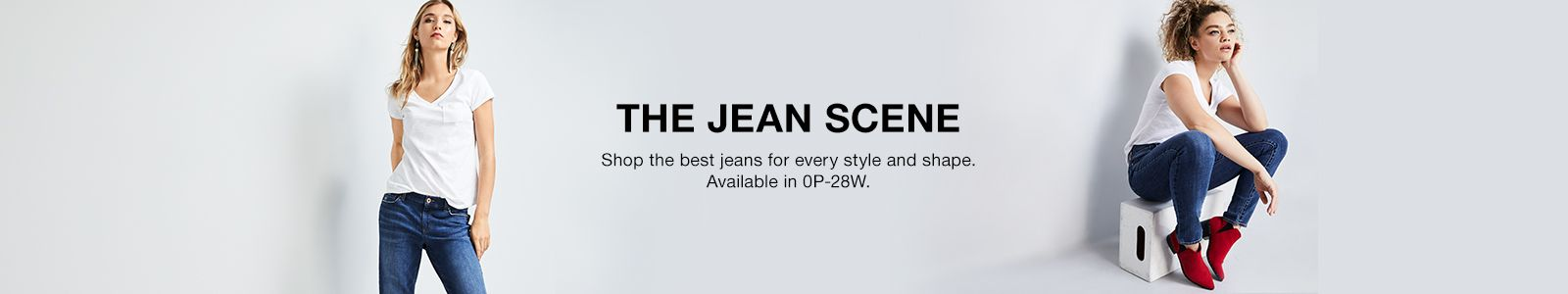 The Jean Scene, Shop the best jeans for every style and shape, Available in 0P-28W
