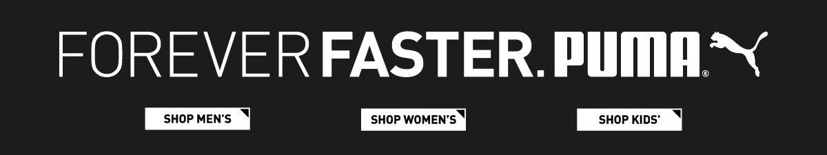 Foreverfaster, Puma, Shop Men's, Shop Women's, Shop Kids'