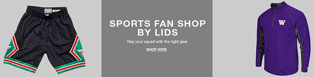 Sports Fan Shop By Lids, Rep your squad with the right gear, Shop Now