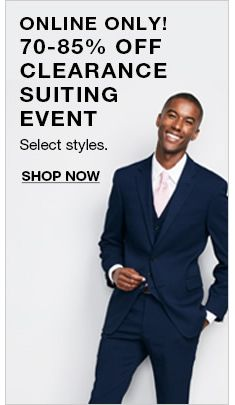 Online Only! 70-85 percent Off Clearance Suiting Event bf210de30