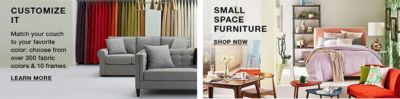 Customize It, Learn More, Small Space Furniture, Shop Now