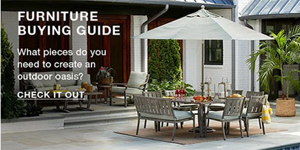 Furniture Buying Guide, What pleces do you need to create an outdoor oasis? Check it Out