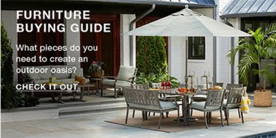 Furniture Buying Guide, What Pleces Do You Need To Create An Outdoor Oasis?  Check
