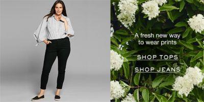 A fresh new wya to wear prints, Shop Tops, Shop Jeans