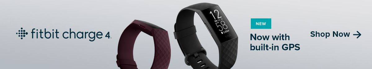 Fitbit charge 4, New, Now with built-in GPS, Shop Now