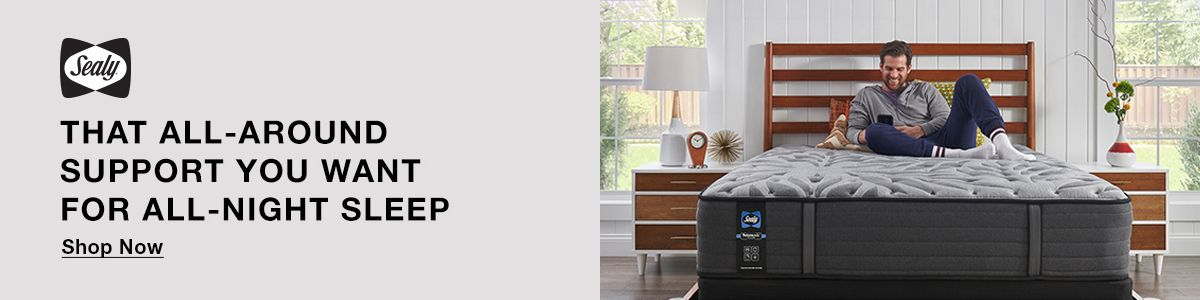 Sealy, That All-Around Support You Want For All-Night Sleep, Shop Now