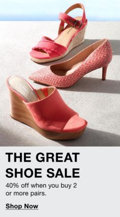 The Great Shoe Sale, Shop Now