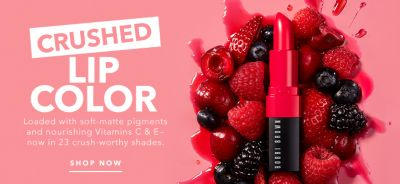 Crushed Lip Color, Loaded with soft-matte pigments and nourishing Vitamins C & E now in 23 crush-worthy shades, Shop now