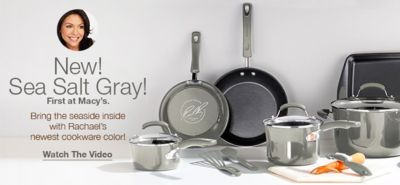 New! Sea Salt Gary! First at Macy's, Bring the seaside inside with Rachael's newest cookware color! Watch The Video