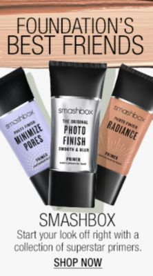 Foundation's Best Friends, Smash Box, Start you look off right with a collection of superstar primers, Shop Now