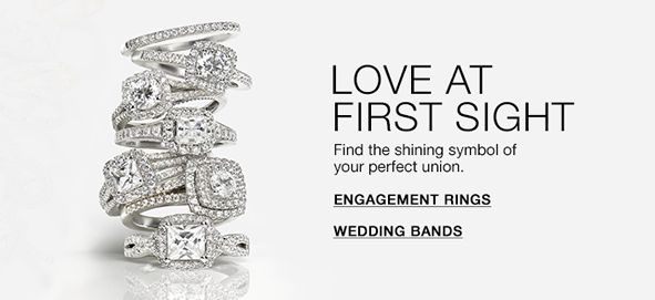 Love at First Sight, Find the shining symbol of your perfect union, Engagement Rings, Wedding Bands