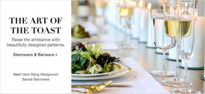 The Art of The Toast, Raise the ambiance with beautifully designed patterns, Stemware and Barware