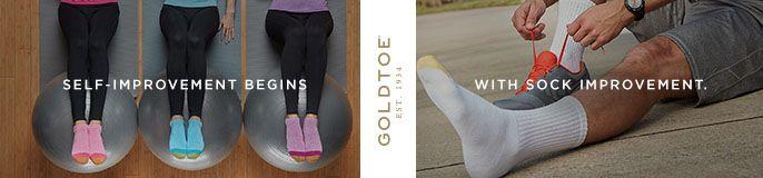 Self-Improvement Begins, Goldtoe, With Sock Improvement
