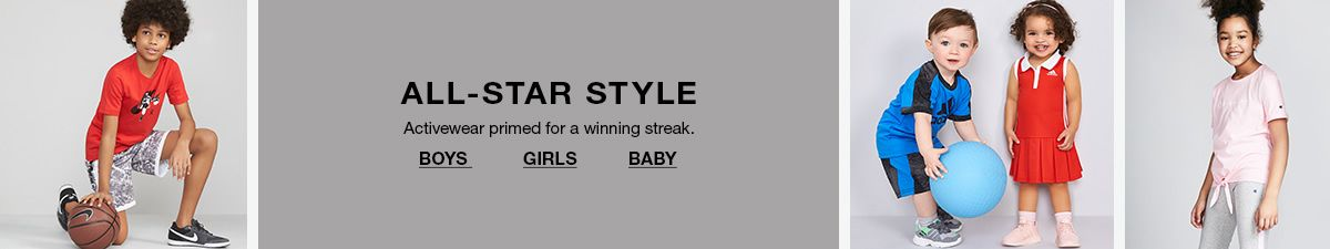 All-Star Style, Activewear primed for a steak, Boys girls baby