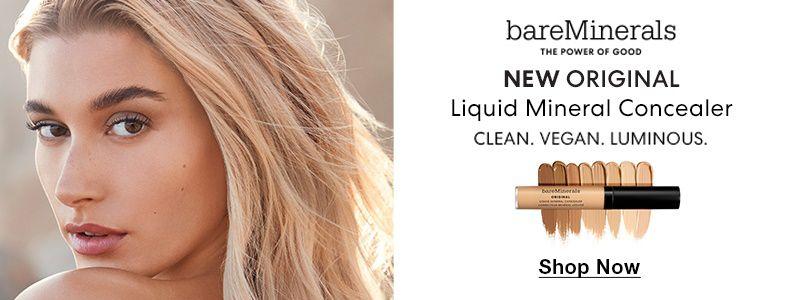 bareMinerals, The Power Of Good, New Original, Liquid Mineral Concealer, Clean, Vegan, Luminous, Shop Now