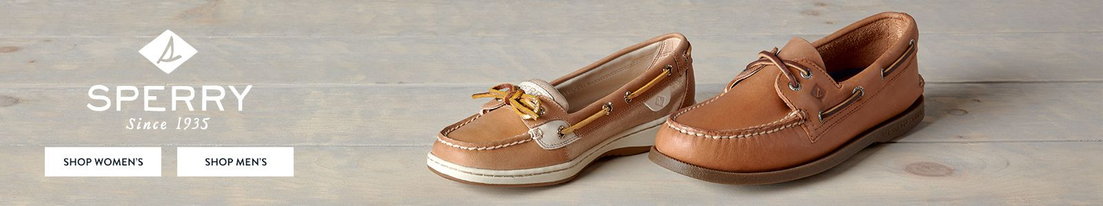Sperry Since 1935, Shop Women's, Shop Men's