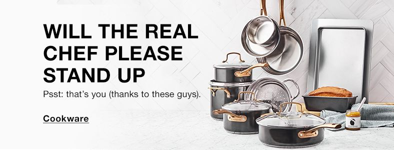 Will The Real Chef Please Stand up, Psst: that's you (thanks to these guys), Cookware
