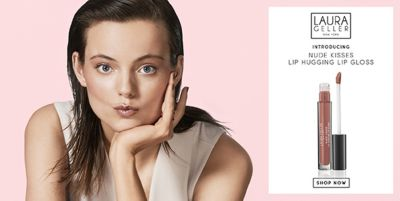 Laura Geller, New York, Introducing, Nude Kisses Lip Hugging Lip Gloss, Shop Now