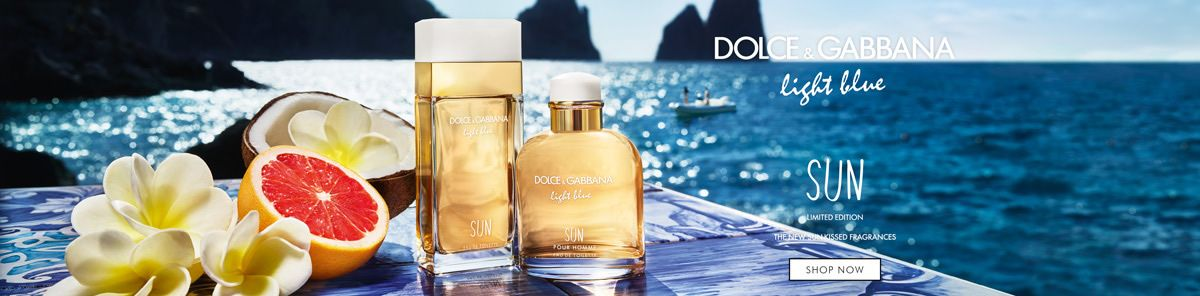 Dolce and Gabbana, Light blue, Sun, Limited Edition, The New Sunkissed Fragrances, Shop Now