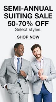 16ab44552492 Semi-Annual Suiting Sale 50-70 percent off