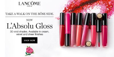Lancome, Take a Walk on the Rose Side, new L'absolu Gloss, Shop now