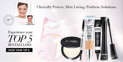 Clinically Proven, Skin Loving, Problem Solutions, Experience your Top 5 Bestsellers, Shop Your Top 5