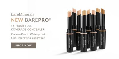 BareMinerals, New Barepro, 16 Hour Full Coverage Concealer, Crease Proof, Waterproof, Skin Improving Longwear, Shop Now