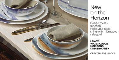 Lenox. New On The Horizon, Design Meets Function Make Your Table Shine With  Microwave Safe Gold