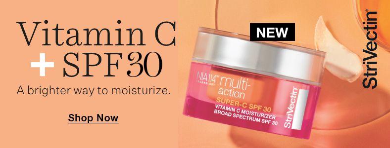 Strivectin, Vitamin C + SPF30, A brighter way to moisturize, Shop Now