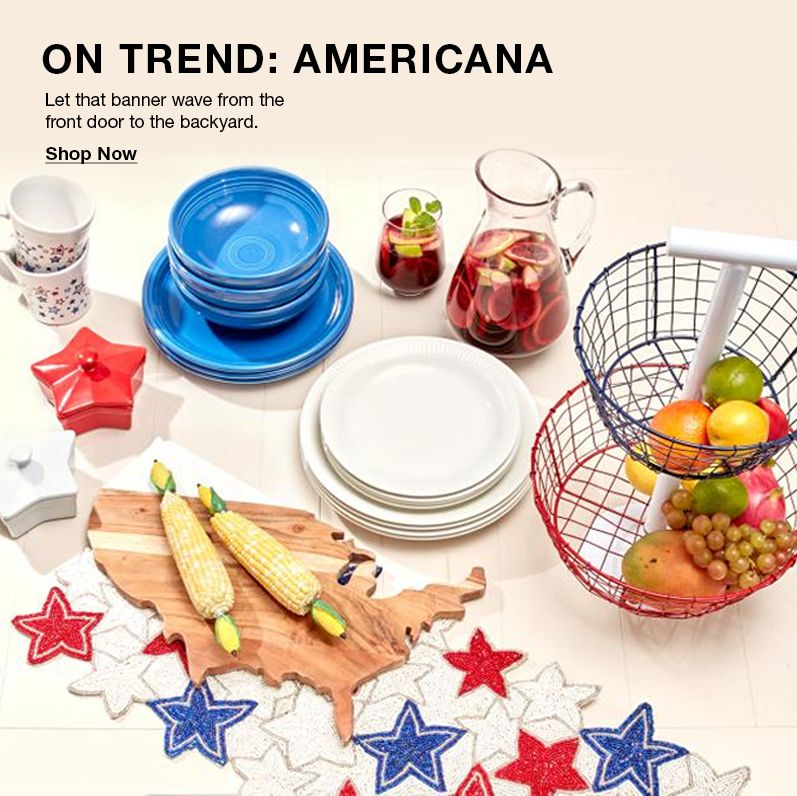 On Trend: Americana, Let that banner wave from the front door to the backyard, Shop Now