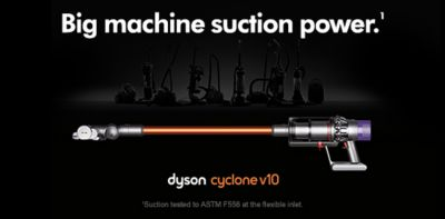 Big machine suction power, dyson cycone v10