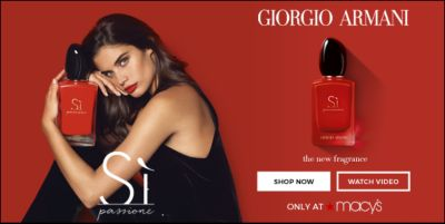Giorgio Armani, the new fragrance, Shop now, Watch Video