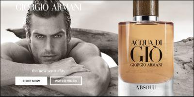 Giorgio Armani, the new sensuality, Shop now, Watch Video