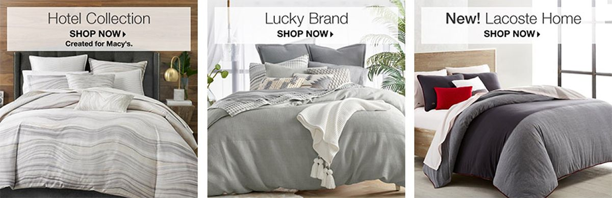 Hotel Collection Shop Now Lucky Brand New Lacoste Home
