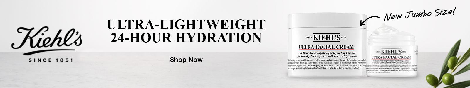 Kiehl's, Since 1851, Ultra-Lightweight 24-Hour Hydration, Shop Now, New Jumbo Size