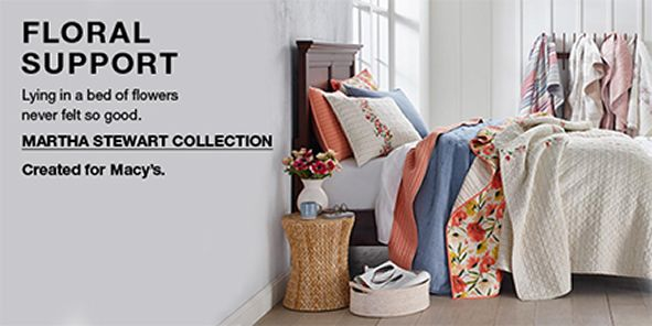 Floral Support, Lying in a bed of flowers never felt so good, Martha Stewart Collection, Created for Macy's