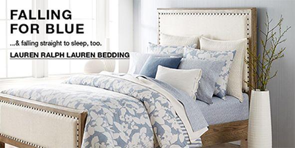 Falling For Blue and Falling straight to sleep, too, Lauren Ralph Lauren Bedding