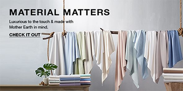 Material Matters, Luxurious to the touch and made with Mother Earth in mind, Check it Out
