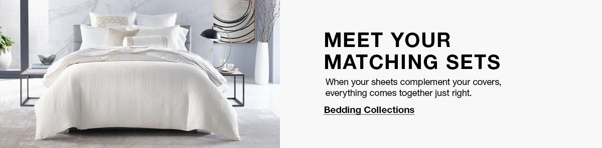 Meet Your Matching Sets, Bedding Collections