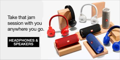Take that jam session with you anywhere you go, Headphones and Speakers