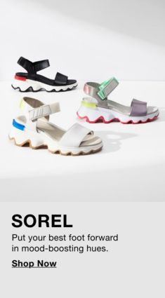 Sorel, Put your best foot forward in mood-boosting hues, Shop Now